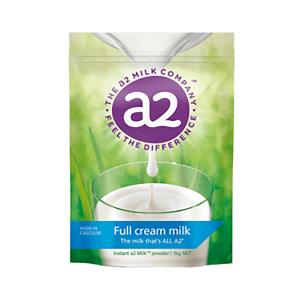 a2全脂奶粉青少年成人速溶高钙牛奶粉 1kg 6袋/箱 (保质期2021年2月)