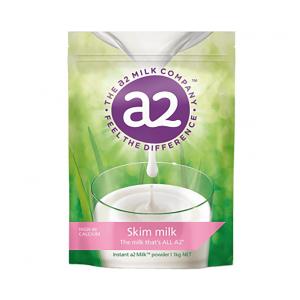 a2脱脂奶粉青少年成人速溶高钙牛奶粉 1kg 6袋/箱(保质期2021年1月)