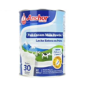 Anchor  安佳全脂奶粉罐装 900g(6罐包邮)(保质期到2021年11月)
