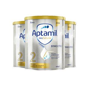 【新西兰直邮包邮】Aptamil 爱他美铂金奶粉 2 段 (3罐包邮)(保质期至 2022年11月)