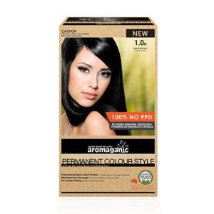 Aromaganic 1.0N 纯天然染发膏染发剂 1.0度 自然黑
