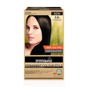 Aromaganic 3.0N 纯天然染发膏染发剂 3.0度 深棕色