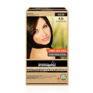 Aromaganic 4.0N 纯天然染发膏染发剂 4.0度 中度棕色