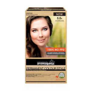 Aromaganic 5.0N 纯天然染发膏染发剂 5.0度 浅棕色