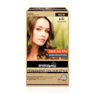 Aromaganic 6.0N 纯天然染发膏染发剂 6.0度 深金色