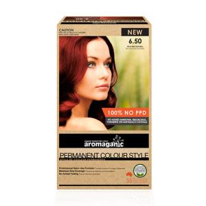 Aromaganic 6.50 纯天然染发膏染发剂 6.50度 正红色