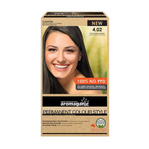 Aromaganic 4.02 纯天然染发膏染发剂 4.02度 超浓可可栗子色