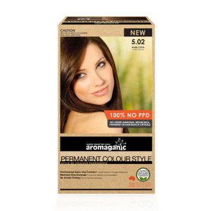 Aromaganic 5.02 纯天然染发膏染发剂 5.02度 咖啡色