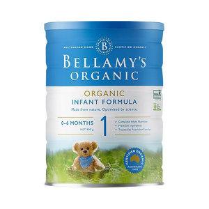 【新西兰直邮包邮】Bellamy's 贝拉米婴儿有机奶粉1段*6罐 适合0-6个月宝宝