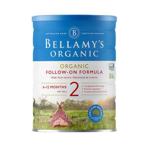 【新西兰直邮包邮】 Bellamy's 贝拉米婴儿有机奶粉2段*6罐 适合6-12个月宝宝