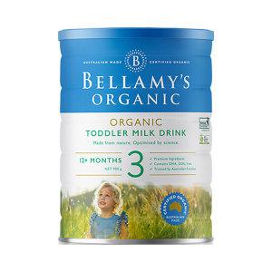 【新西兰直邮包邮】Bellamy's 贝拉米婴儿有机奶粉3段*6罐 适合1岁以上宝宝