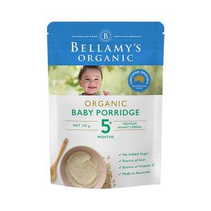 Bellamy's 贝拉米 有机燕麦麦片粥辅食 米粉米糊 5+ 125g