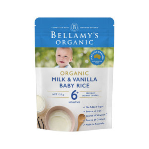 Bellamy's 贝拉米 有机香草味辅食 米糊米粉 6+ 125g