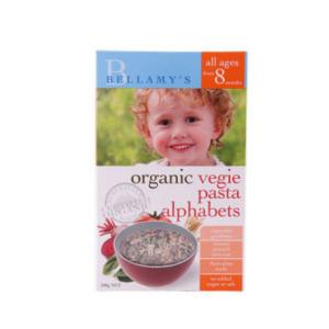 Bellamy 贝拉米有机字母蔬菜意面  8+  200g