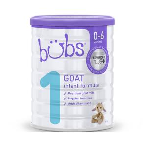 【新西兰直邮包邮】Bubs婴儿山羊奶粉1段800g 适合0-6个月宝宝 6罐/箱(保质期到2021年5月)