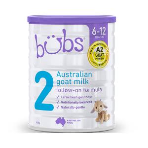【新西兰直邮包邮】Bubs婴儿山羊奶粉2段 800g 适合6-12个月宝宝 6罐/箱(保质期到2021年8月)