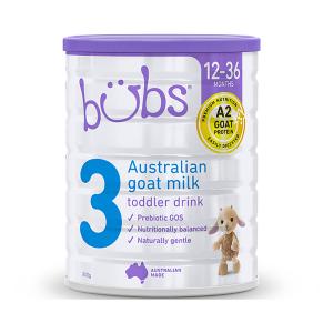 【新西兰直邮包邮】Bubs婴儿山羊奶粉3段  适合1-3岁宝宝 6罐/箱(保质期到2021年4月)