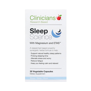 Clinicians 科立纯 睡眠片含镁& ETAS 30粒