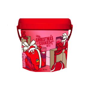 Cookie Time桶装圣诞限量版饼干 -巧克力味(含巧克力脆片)  600g(2020.6)