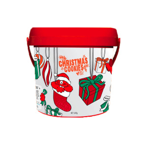 Cookie Time桶装圣诞限量版饼干-杏巧克力 600g(2020.7)