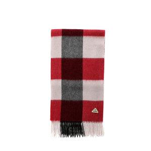 方格纹羊毛围巾