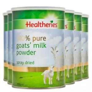 【新西兰直邮包邮】Healtheries 贺寿利成人羊奶粉6罐 450克/罐(保质期至 2022年2月)