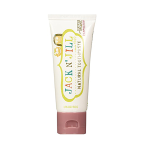 Jack & Jill 天然有机无氟可吞食儿童牙膏(树莓) 50g