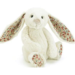 Jellycat 害羞系列邦尼兔 中号 花耳朵 奶油色