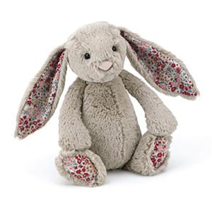 Jellycat 害羞系列邦尼兔 中号 - 花耳朵 米色