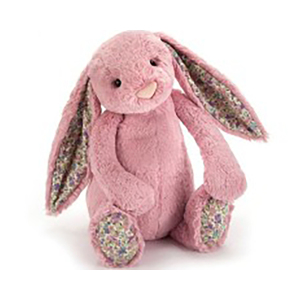 Jellycat 害羞系列邦尼兔 郁金香色 花耳朵 大号 36cm