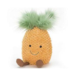 Jellycat 欢乐小菠萝 儿童可爱水果毛绒玩具玩偶 25cm