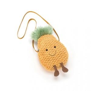 Jellycat 欢乐菠萝时尚单肩斜挎包 33cm