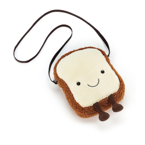 Jellycat 卡通吐司面包 单肩斜挎包 19cm