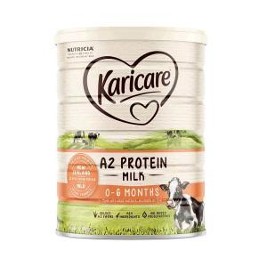 【新西兰直邮包邮】Karicare 可瑞康A2蛋白婴儿配方奶粉900g 1段(6罐包邮) (保质期至 2021年5月)