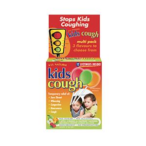 Kids Cough 儿童咳嗽混合口味棒棒糖 12支装