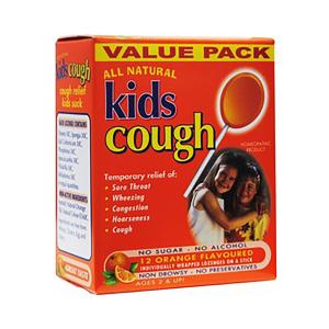 Kids Cough 儿童咳嗽橘子棒棒糖 10支装