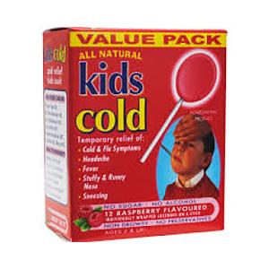 Kids Cough 覆盆子感冒棒棒糖 10支装