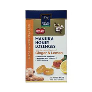 Manuka Health 蜜纽康 MGO400+ 生姜&柠檬味润喉糖 15粒
