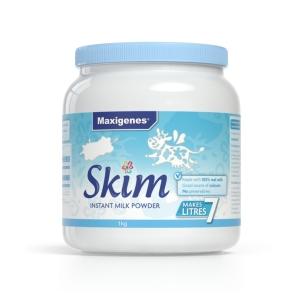 【新西兰直邮包邮】Maxigenes 美可卓 蓝胖子 脱脂奶粉 1kg(6罐包邮)