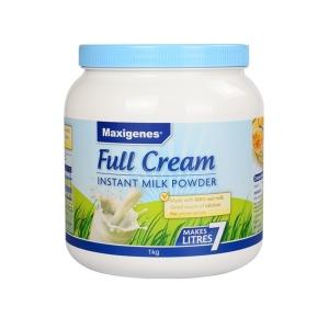 【新西兰直邮包邮】Maxigenes 美可卓 蓝胖子 全脂奶粉 1kg(3罐包邮)(保质期是01/23)