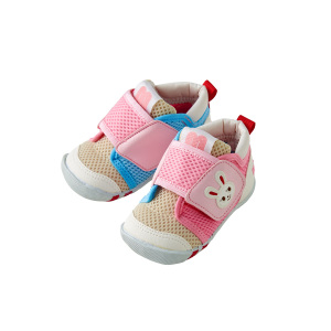 MIKI HOUSE 婴幼儿学步鞋 粉蓝拼色款 11.5CM