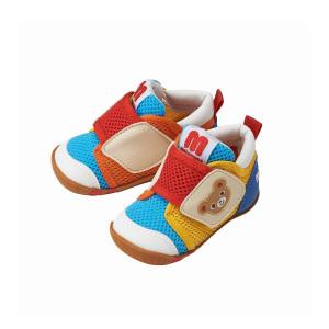MIKI HOUSE 婴幼儿学步鞋 黄红蓝拼色款 11.5CM