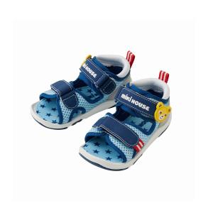 MIKI HOUSE 婴幼儿学步凉鞋 蓝色款 15.5CM