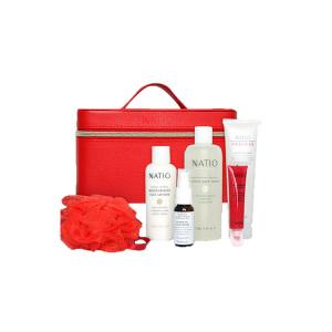 Natio 娜迪奥 红色礼盒6套装 (爽肤水+洁面乳+面膜+卸妆水+精华+沐浴球)