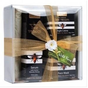 Parrs帕氏蜂毒系列套装礼盒 (蜂蜜面膜+蜂毒晚霜+蜂毒精华)