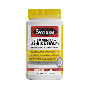 Swisse 维生素C + 麦卢卡蜂蜜 120片