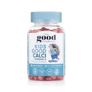 Thegood vitamin co 儿童钙+维D软糖 强壮骨骼 草莓味 90粒