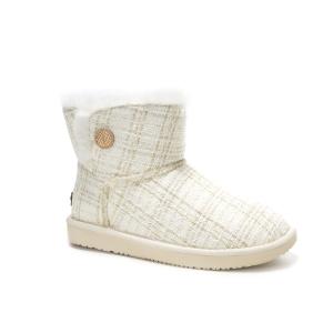 【中国仓】UGG DA061 经典网格尼布小香风雪地靴 (白色 40号)