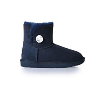 UGG DK007S 防泼水 施华洛世奇水晶扣短筒雪地靴(藏蓝色 36/37号)