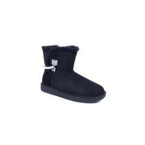 UGG DK046 秋冬新款 诺拉珍珠项链雪地靴  (黑色 38号)